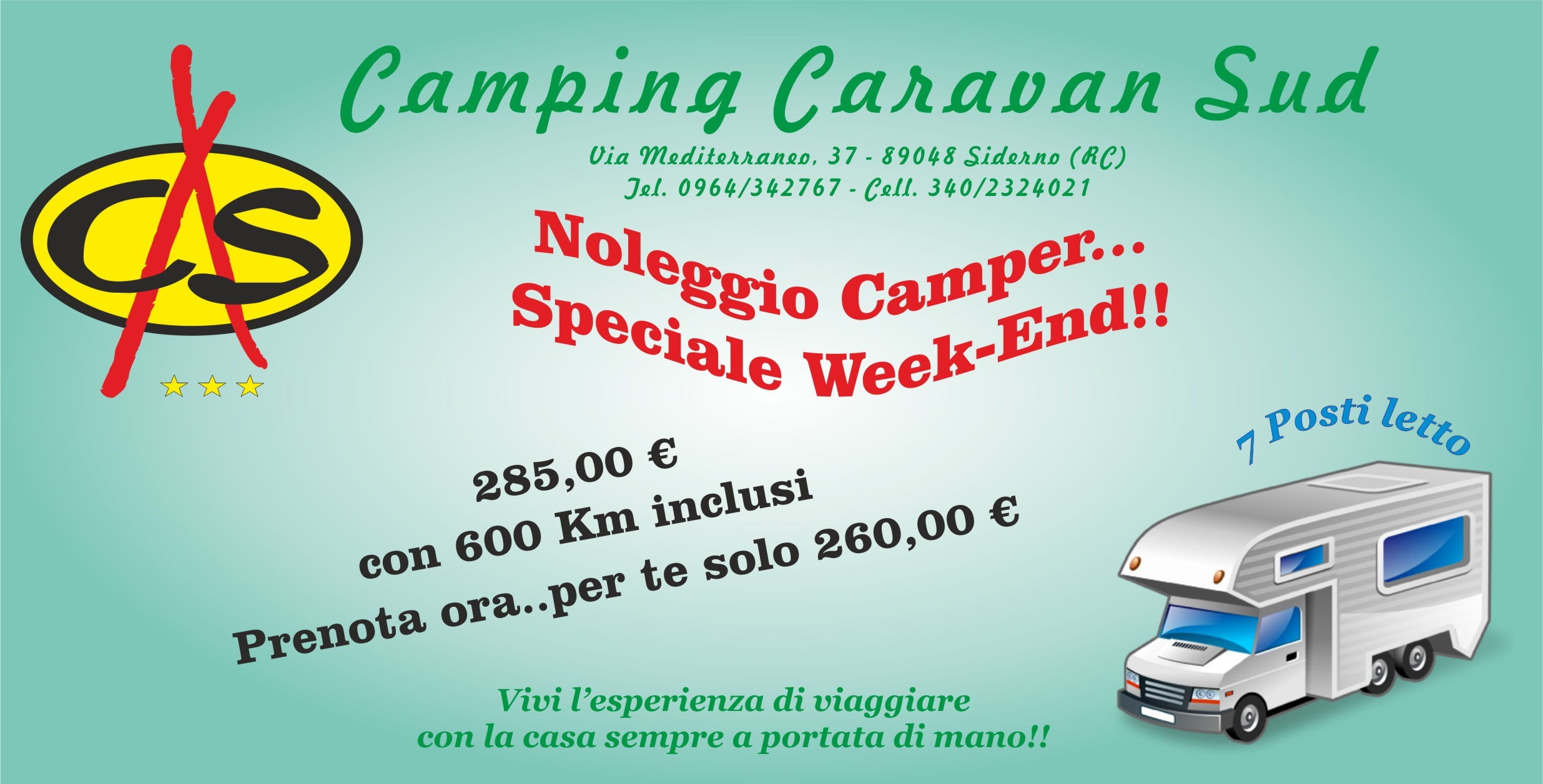 SPECIALE WEEKEND CAMPER
